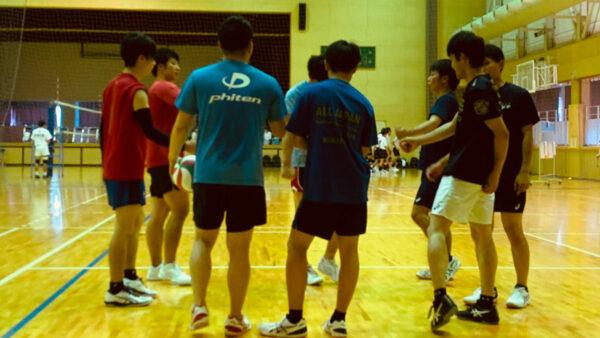 満濃中学校体育館にて練習を行いました